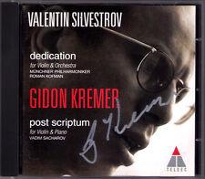 Gidon KREMER Signed SILVESTROV Dedication Post Scriptum CD Kofman Vadim Sacharov