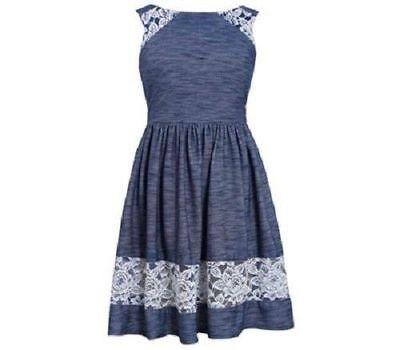 Bonnie Jean Girls Stripe Floral Poplin School Fall 2 Pocket Dress 12M 18M 24M