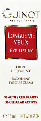 Brandneu Smoothing Circulation And Stopping Pains 14.8ml Ml Professional Sale Guinot Longue Vie Yeux Augen Lifting Creme Creme 15ml