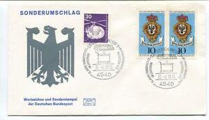 1975 Sonderumschlag Wertzeichen Deutschen Bundespost Lengerich Westf Bundespost Complet Dans Les SpéCifications