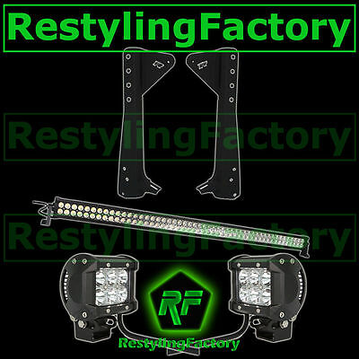 "JEEP TJ 97-06 Wrangler 50"" LED LIGHT BAR+3"" LED Spot Adjustable+Mounting Bracket"