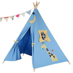 Image is loading Children-039-s-Teepee-Kids-play-tent-playhouse-  sc 1 st  eBay & Childrenu0027s Teepee. Kids play tent / playhouse / wigwam Tipi Tepee ...