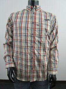 149843a6b71 Mens M Columbia PFG Super Harborside Woven Long Sleeve Fishing Shirt ...