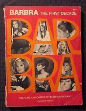 1976 BARBRA Streisand THE FIRST DECADE by James Spada G/VG 3.0 3rd Citadel