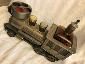Vintage Train Locomotive, Decanter, Shot Glasses (2), Musical Box