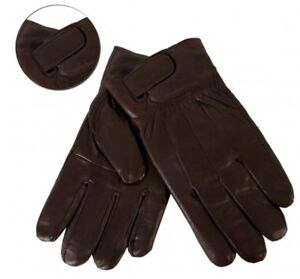 Mens-Brown-Sheep-Nappa-Real-Leather-Gloves-From-Lorenz-L-New-And-Tagged