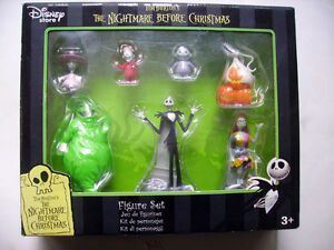 Coffret 7 Figurines - Etrange Noel De Mr Jack -tim Burton Disney Store