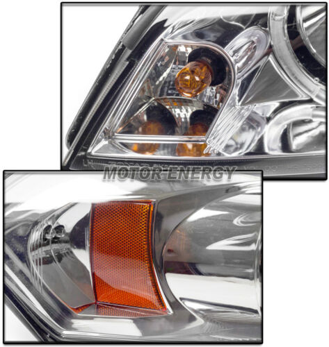 06-15 CHEVY IMPALA DUAL HALO DRL LED PROJECTOR HEADLIGHTS LAMP CHROME LEFT+RIGHT