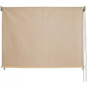 new styles 93417 21068 Details about Outdoor Sun Shade Retractable Solar Blind Window Roll Up  Porch Patio Home 8x6 Ft