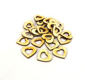 Herz mit Herzauschnitt aus Holz Geburtstag Dekoration Hochzeit Holzherzen