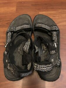 new product a00c9 ab852 Details about MEN'S SIZE 11 BLACK TEVA S/N 66538 STRAP SANDALS - PREOWNED  IN VGUC