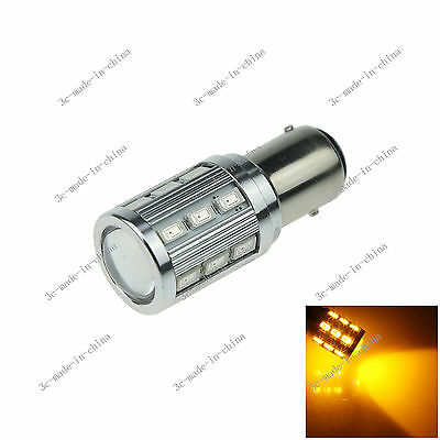 1X Yellow 1157 BAY15D 18 5630 1 Cree Q5 LED Car Signal Rear Light Bulb Lamp E070
