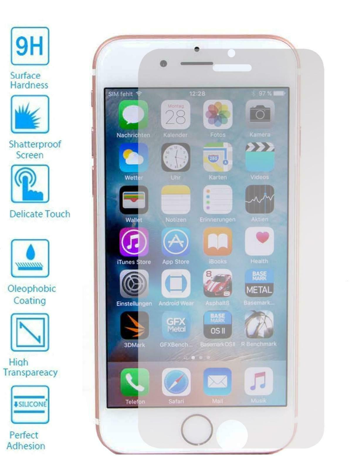 Protector de Pantalla para Apple Iphone SE 2020 Cristal Templado Vidrio 9H...