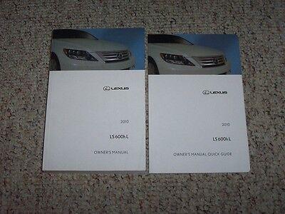 2010 Lexus LS600hL LS 600h L Factory Original Owner's Owners Manual Set