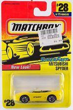Matchbox Mitsubishi Spyder MB 28 Superfast 1997 Thailand Casting Mint On Card
