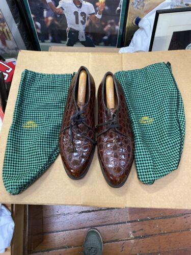 Vintage Edwin Clapp Dress Shoes Alligator Size 10