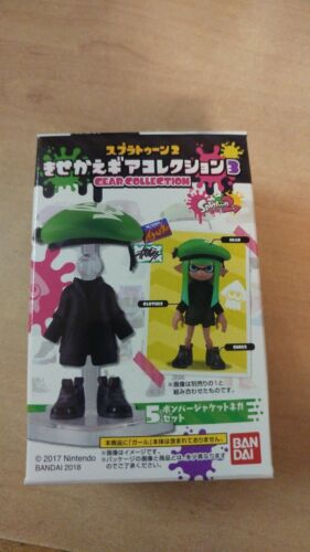 BANDAI Splatoon Part 2 3 Kisekae Gear Collection Action Figure Candy Toys