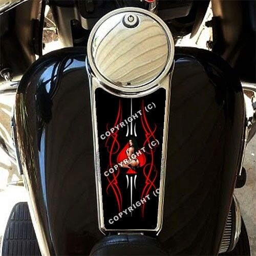 STRIPE PIN UP GIRL Custom Gas Tank Dash Console Decal for 87-07 Harley Touring