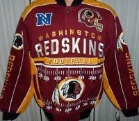 Washington Redskins Nfl Jacket 2014 blitz Twill Jacket Red & Yellow - Medium