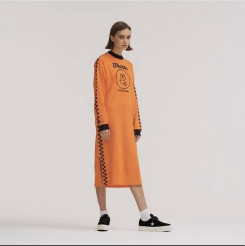 Lazy Oaf Thanks For Nothing Orange Dress