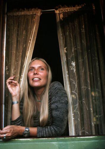 CANVAS Joni Mitchell in Window Art print POSTER