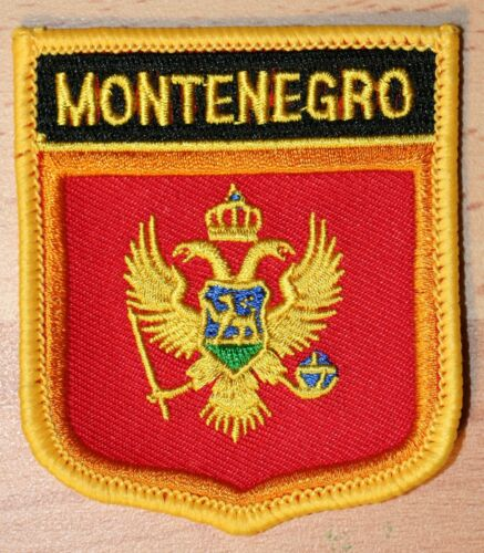 Montenegro Shield Country Flag Embroidered PATCH Badge P1