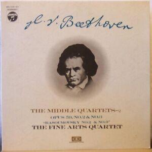 FINE-ARTS-QUARTET-Beethoven-Middle-Quartets-Opus-59-Nos-2-amp-3-LP-Rasoumovsky