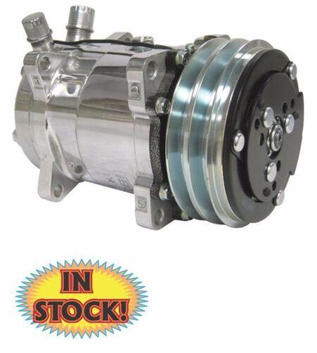Sanden V-Belt A//C Compressor TBI SCV508P R134 Polished Finish