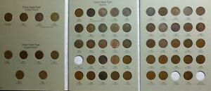 1857-1909-Flying-Eagle-Indian-Head-Penny-Cent-Collection-IC3-Near-Complete