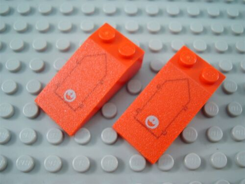 LEGO Lot of 2 Red 4x2 Star Wars A Wing Decorated Slopes
