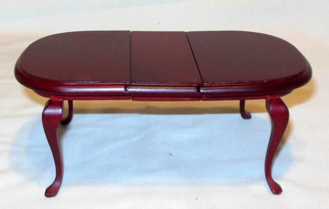 MAHOGANY DINING ROOM TABLE DOLL HOUSE FURNITURE MINIATURES