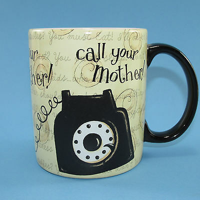 Lang Call Your Mother Rotary Telephone Mug Cup 2007 Dan DiPaolo 12 Oz Unused