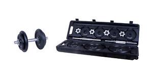 Hudora-Fitness-Kurzhantel-30kg-Gewichte-Hantelscheiben-Kurz-Hantel-im-Koffer-Set