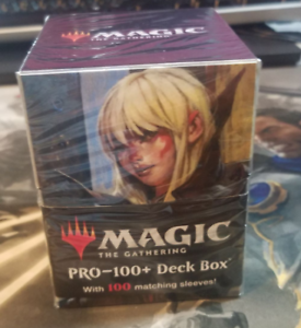 Commander Deck Box and Matching Sleeves Magic the Gathering