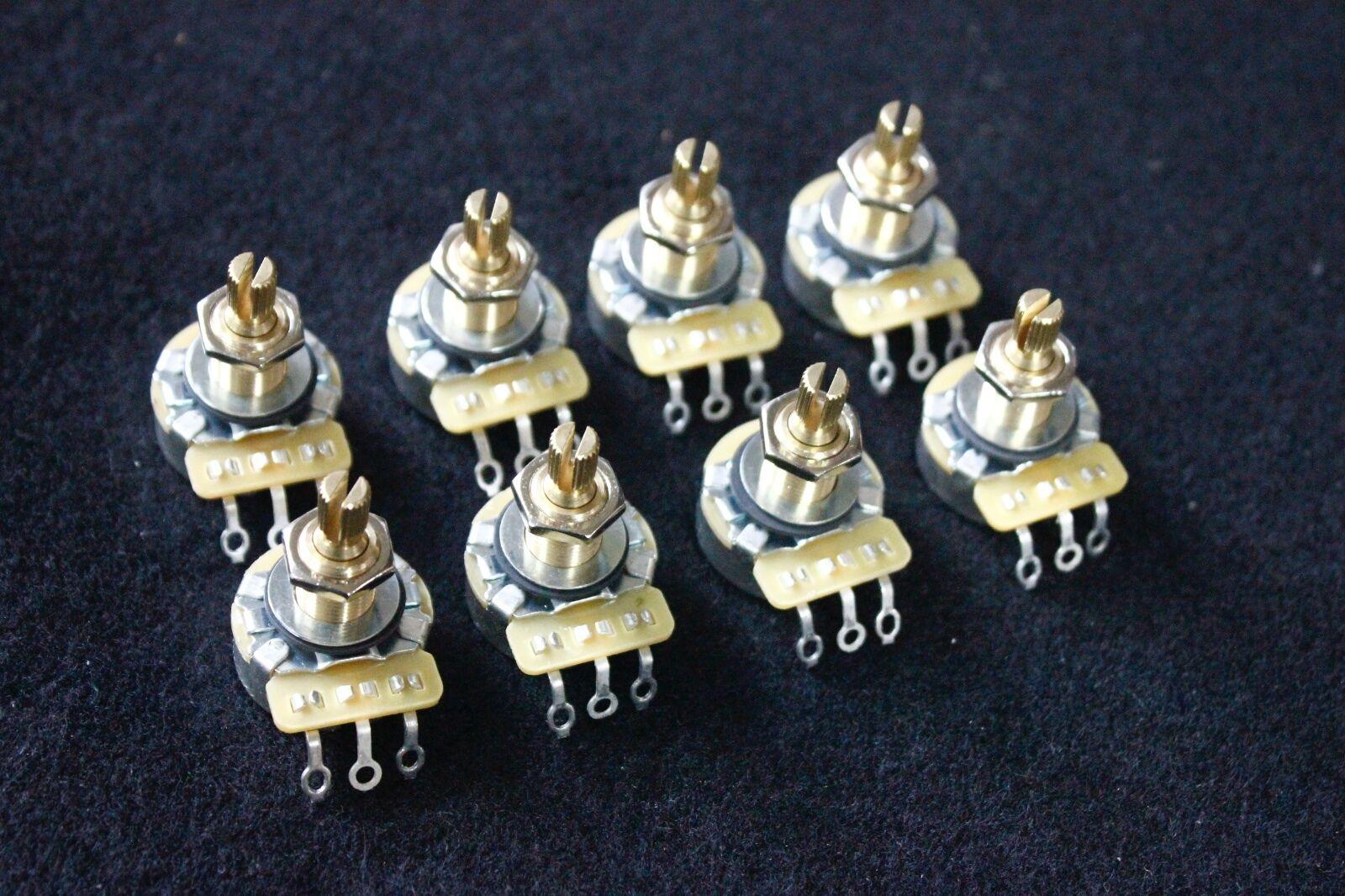 8 X CTS A500K/Regular A Type(Audio taper) Brass Shaft pots