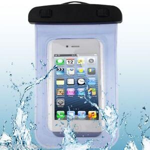 Borsa Custodia Impermeabile Blu Azzurra Universale per Smartphone - Waterproof