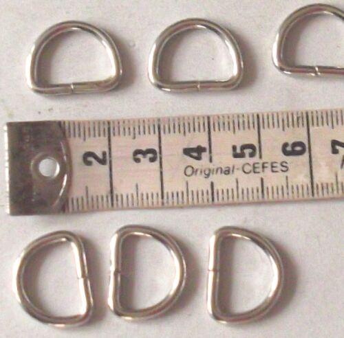 D-Ringe Farbe silber #356# 10 Stück,16 mm