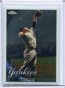 2010-Topps-Chrome-Baseball-Card-Mickey-Mantle-New-York-Yankees-NR-MT-7