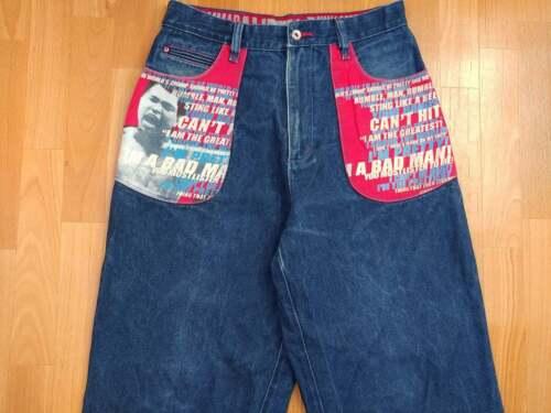 Platinum FUBU jeans, Muhammad Ali vintage baggy pa