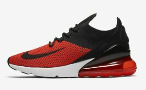 Details about Nike Air Max 270 Flyknit Men's Running Shoes AO1023 601 Chile Red Black NIB