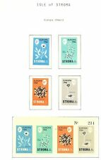 ENGLAND LOCAL STAMPS  ISLE OF STROMA  4 ST. + 1 x BLOCK  1966  EUROPA  **IMPERF