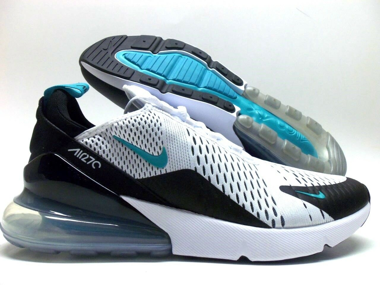 Nike air max 270 nero / white-dusty uomini cactus dimensioni uomini white-dusty 12 [ah8050-001] 481085