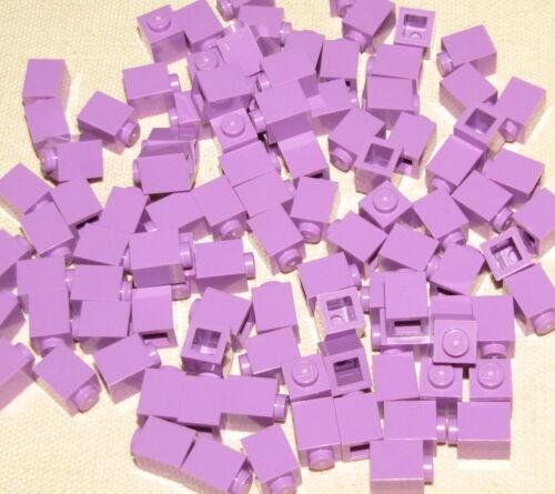 LEGO LOT OF 100 NEW 1 X 1 DOT MEDIUM LAVENDER BRICKS BUILDING BLOCKS GIRLS