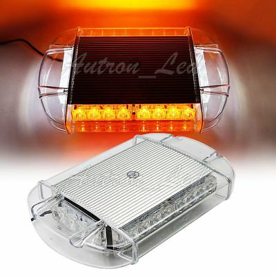 "24/"" 48 LED Flashing Warning Rooftop Beacon Emergency Strobe Amber Work Light Bar"