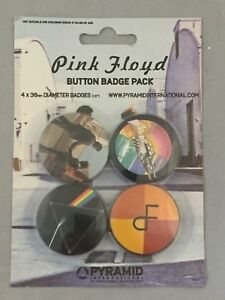 NEW-SET-OF-4-BUTTON-BADGES-PINK-FLOYD-MUSIC-PACKAGED