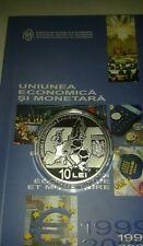 ROMANIA 10 Lei 2009 PROOF euro Silver COIN European UNION Romanian Rumänien UNC
