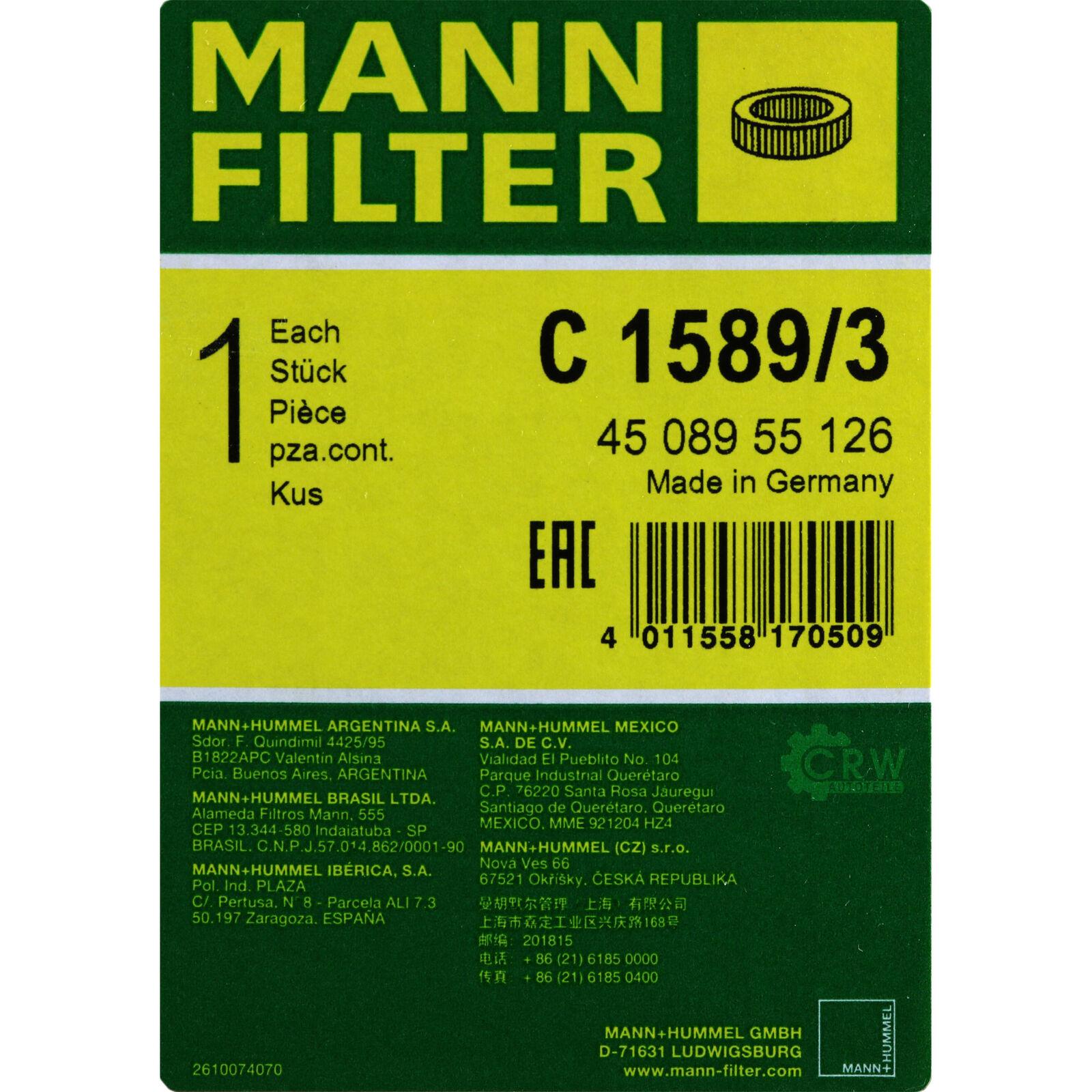 Mann C 1589//3 Luftfilter