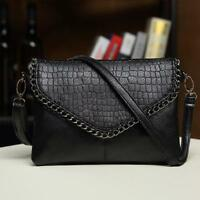 Women Shoulder PU Leather Handbag Cross Bag Tote Messenger Satchel Purse Black
