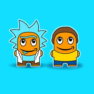 * 2 Stück * Rick und Morty peccy Pin Set