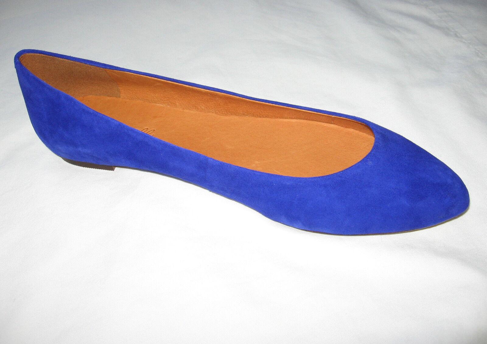 Madewell New in Box Suede sidewalk skimmers schuhe Farbe:Crystal Blau